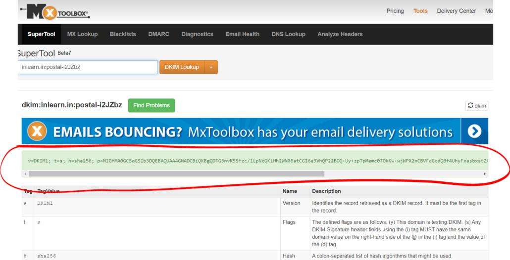 dkim-test-result-mxtoolbox-verify