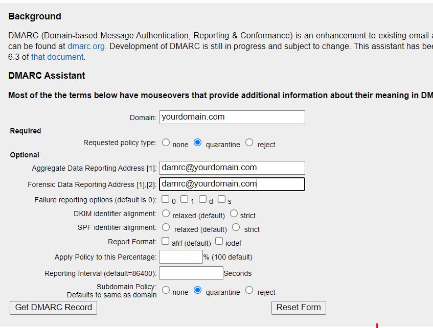 generate-dmarc-record-online