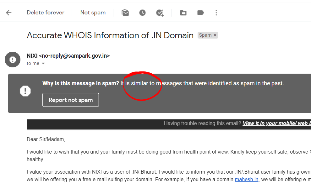 emails-going-spam-from-domain